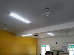 DC Fan and Light in Classroom