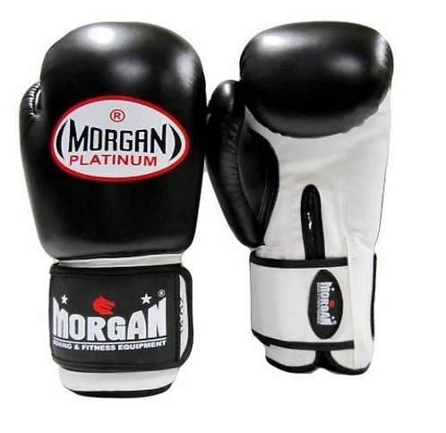 MORGAN V2 PLATINUM LEATHER SPARRING GLOVES (10 - 16OZ)