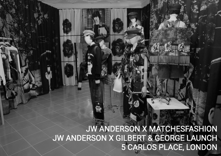 JW Anderson X MATCHESFASHION, JW Anderson X Gilbert & George Launch, 5 Carlos Place, London.
