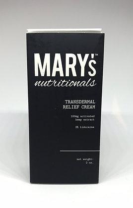 Mary's Nutritionals CBD Transdermal Relief Cream (100 mg)