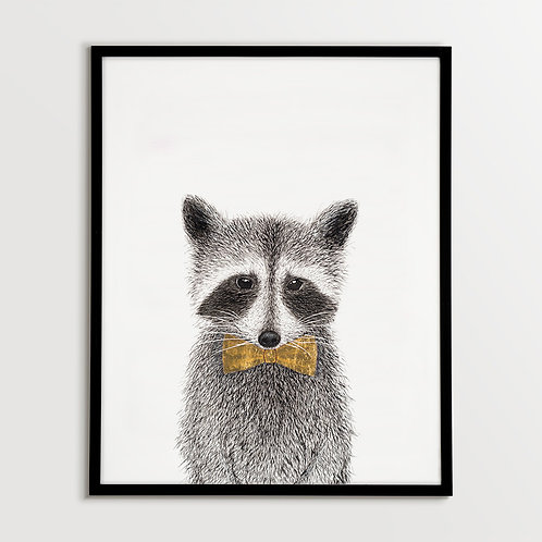 Raccoon with Bow Tie