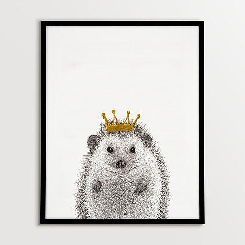 Hedgehog with Crown
