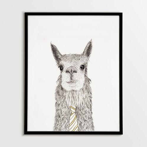 Alpaca with Tie