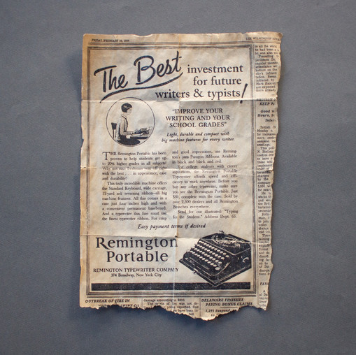 Remington Newspaper Ad