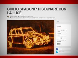INTERVISTA Giulio Spagone: disegnare con la luce