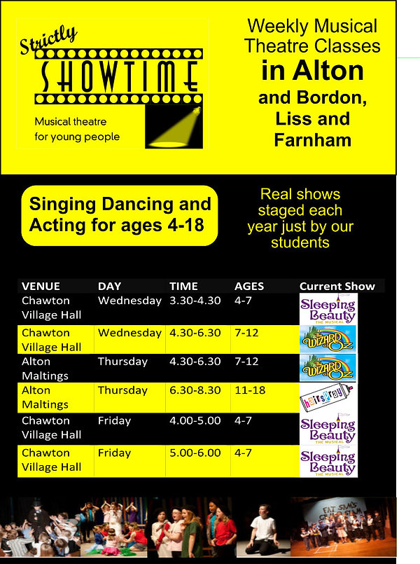 Weekly Musical Theatre classes in Alton