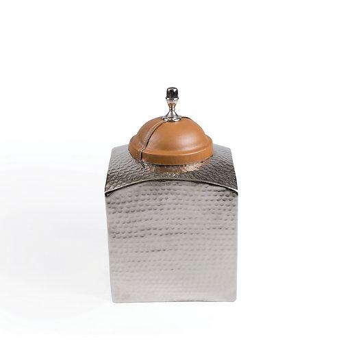 Large Jar with Light Brown Lid, #TC15207