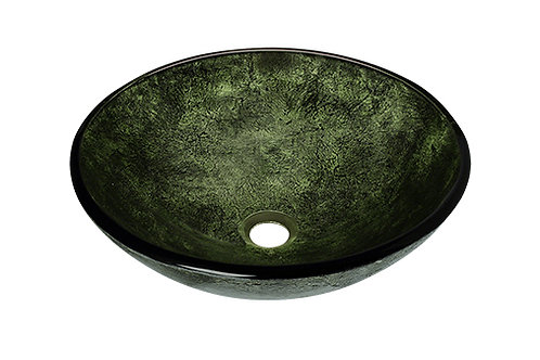 Forest Green Glass Vessel