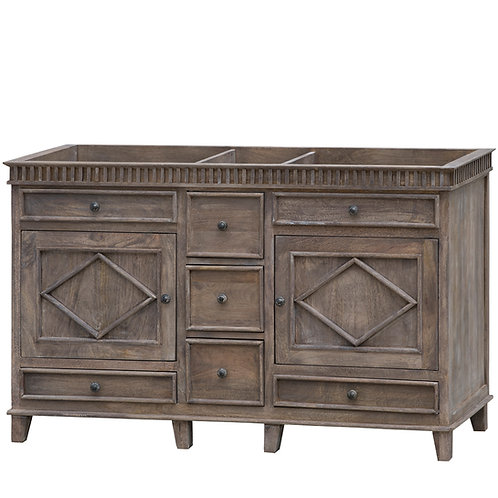 "Lancaster 58"" No Top Bathroom Vanity"