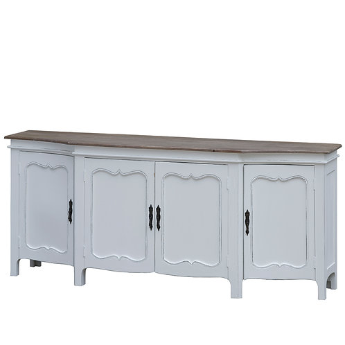 Distressed White Sideboard Credenza Buffet