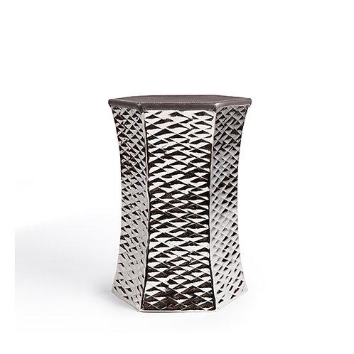 Diamond Pattern Hexagon Aluminum Stool #TC15216