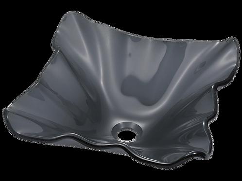 Wavy Black Vessel Bowl