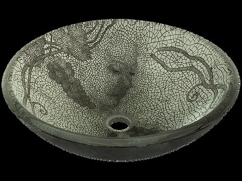 Cracked Vineyard Glass Vessel Bowl