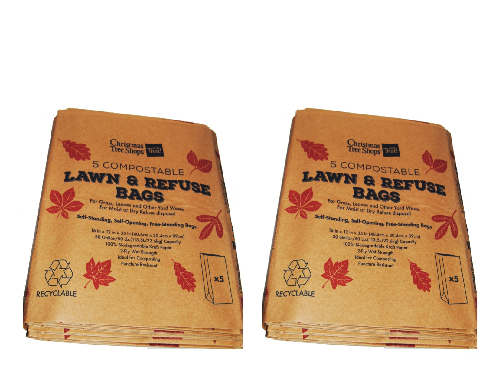 10 paper lawn and leaf bag set