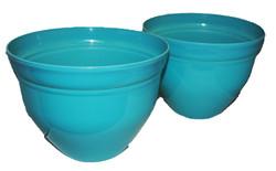 shiny pots turquiose