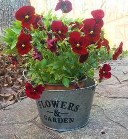 metal flower pot farm house style