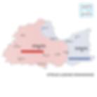 stroje ludowe - region krakowski - mapa