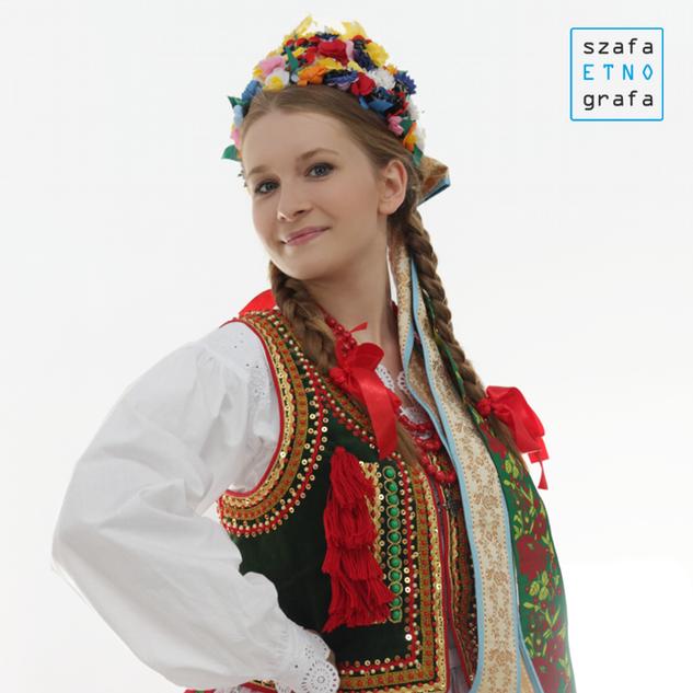 Strój krakowski damski - Bronowice