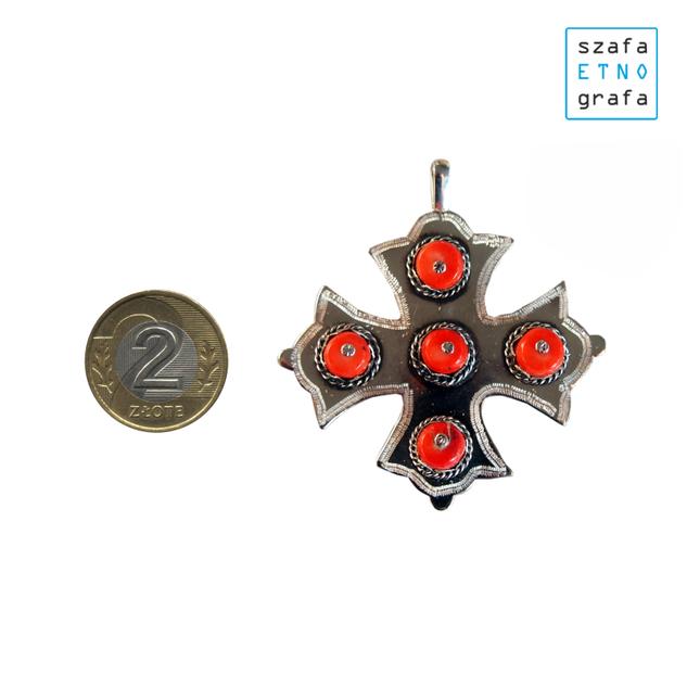 Stroje ludowe krakowskie - krzyż do korali