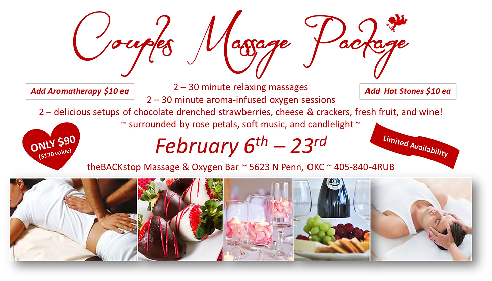 Valentine couples massage package chocol