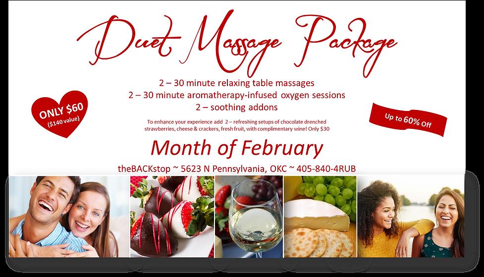 Valentines Duet Massage Package friends