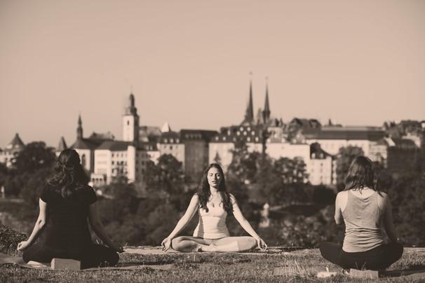 Outdoor Yoga Lesson