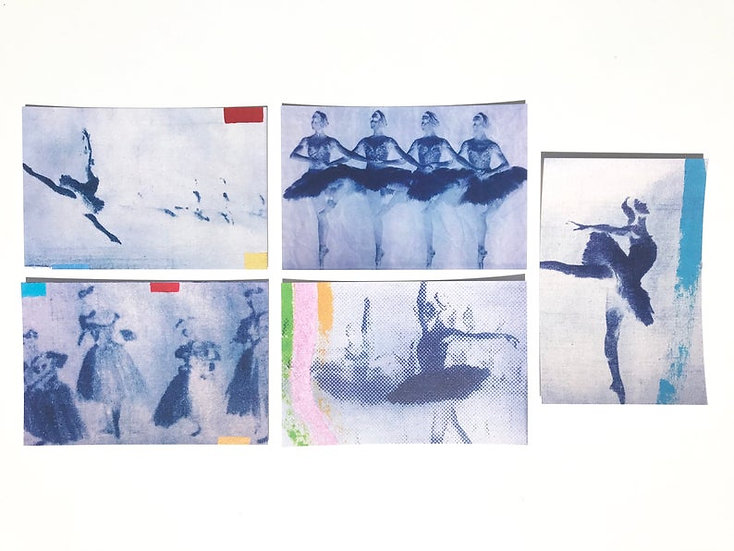 Ballerina Postcard Set of 5
