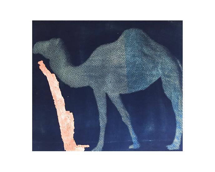 "Gold Arabian Camel - 8"" x 10"" Print"