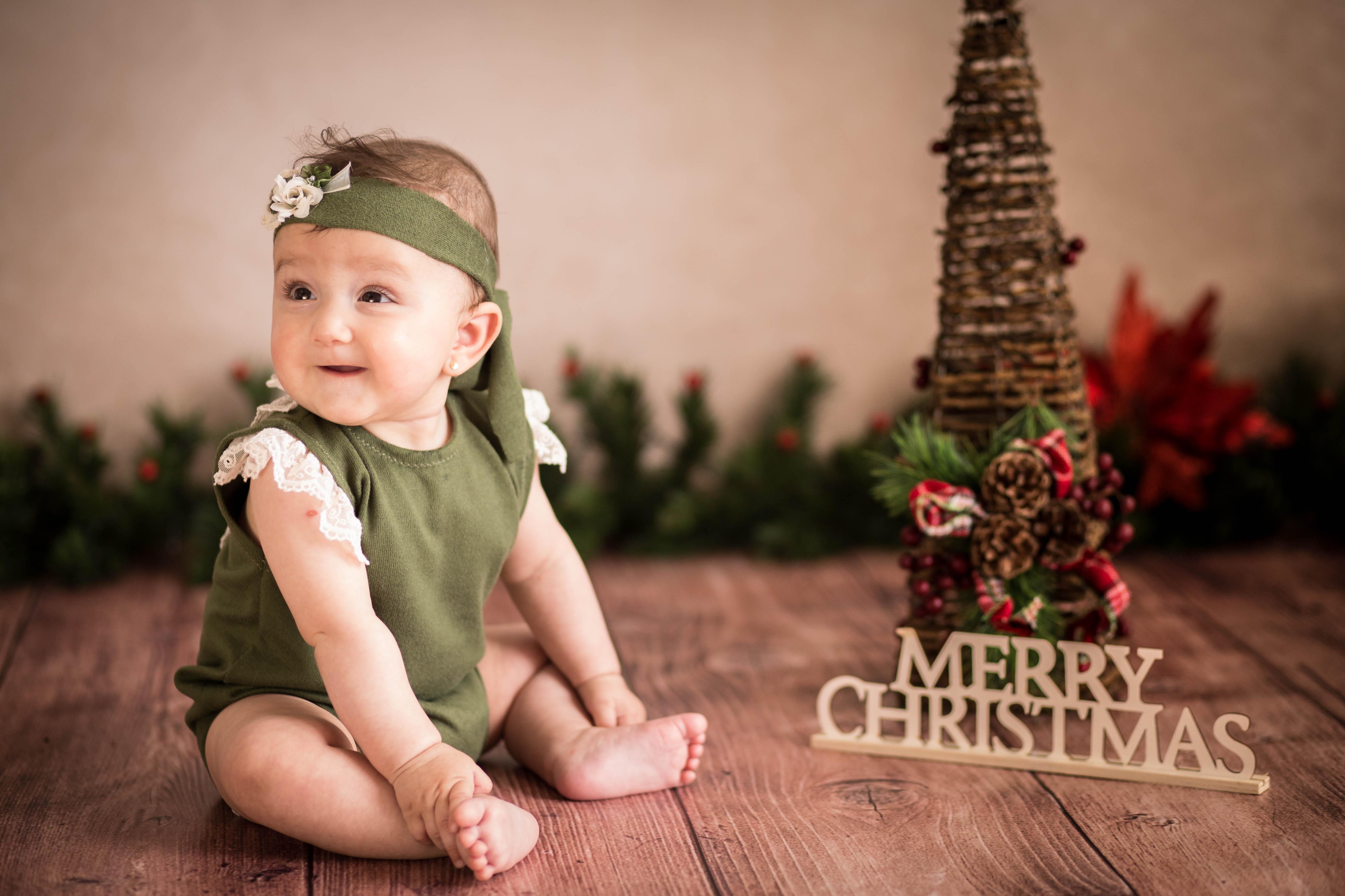 Navidad fotografia bebes