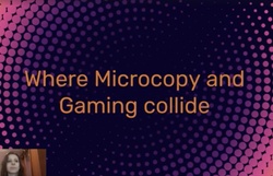 Where microcopy and gaming collide