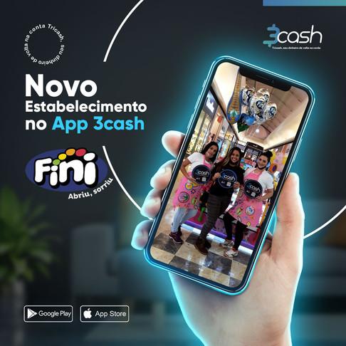 Rede de doces de Ribeirão Preto, Araraquara e Franca, Fini Store possuem cashback pelo App 3cash.