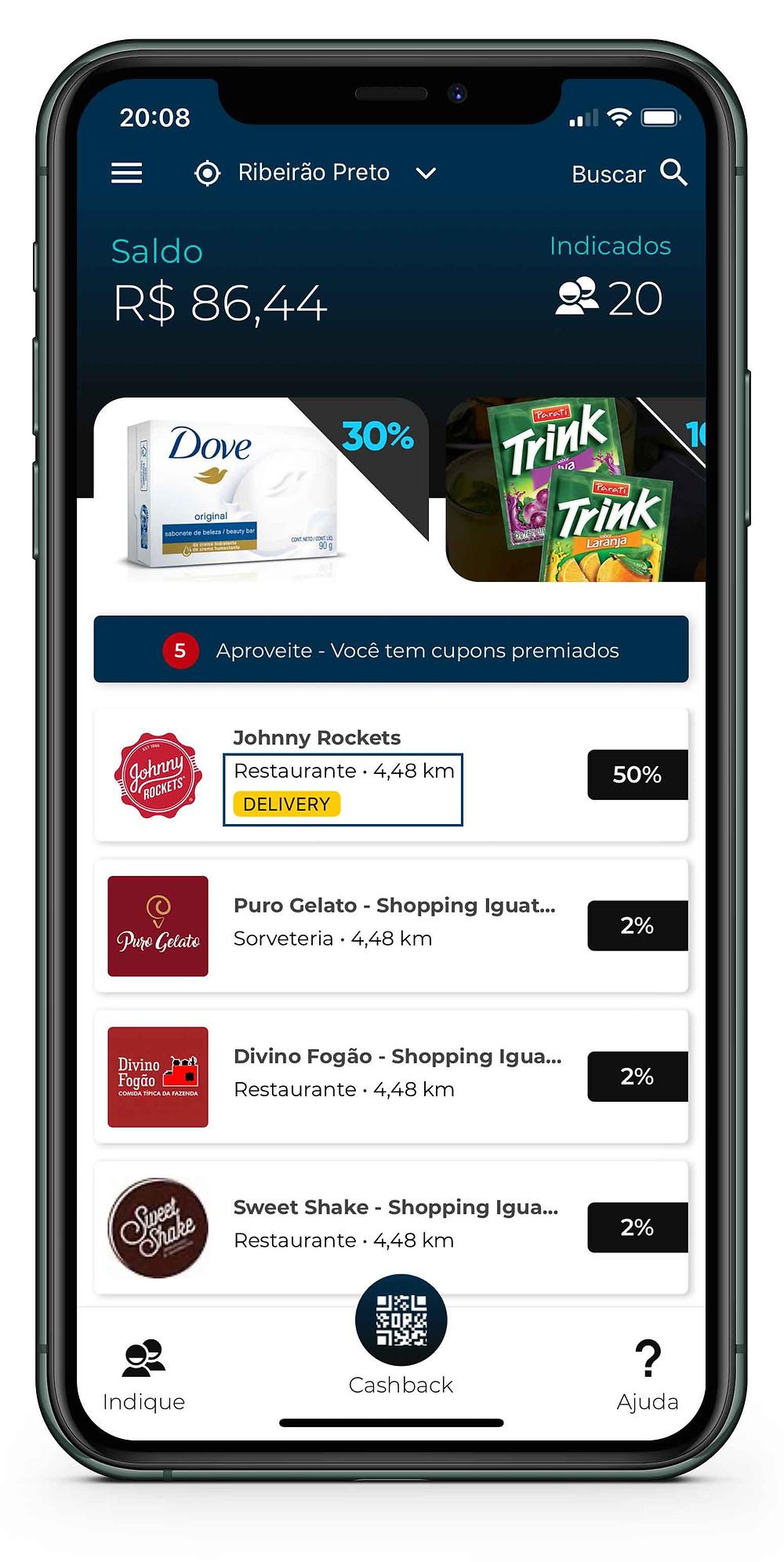 Pagina-Inicial-do-App-3cash-com-Geolocalizacao-e-Tag