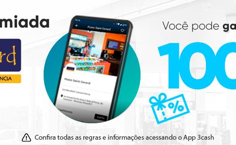 O App 3cash e o Auto Posto St. Gerard de Ribeirão Preto/SP devolvem até 100% do seu dinheiro!