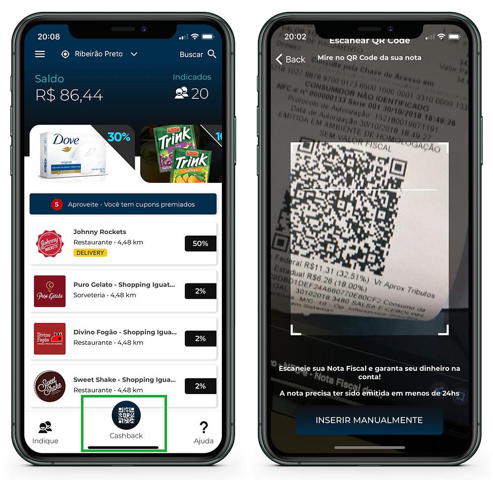 Telas-do-App-3cash-para-gerar-Cashback-3cash
