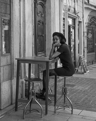 Woman at High Table, Aix-en-Provence, Fr