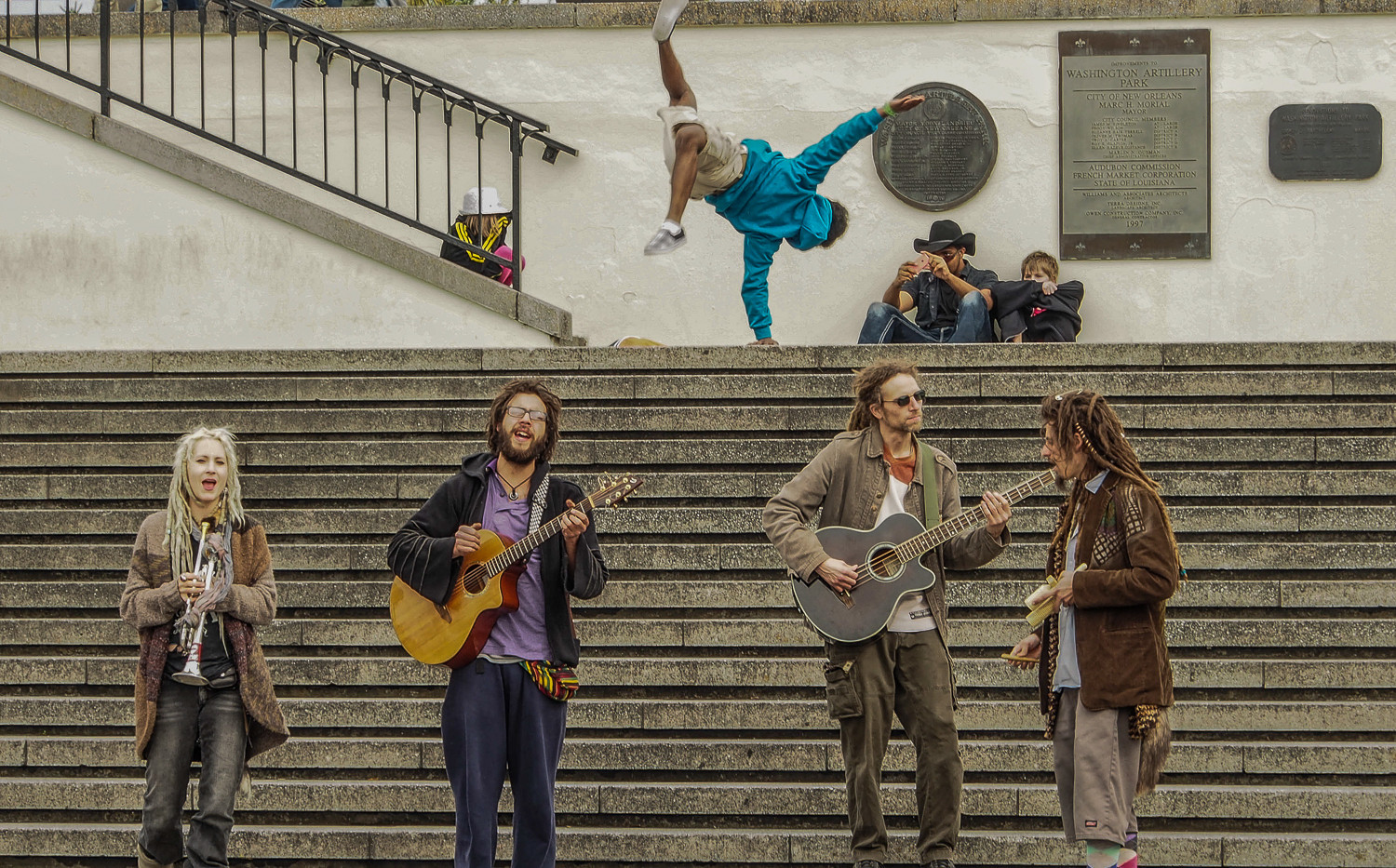Street Performers in Jackson Square
