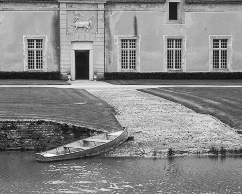 Rowboat at Chateau de Commarin, France
