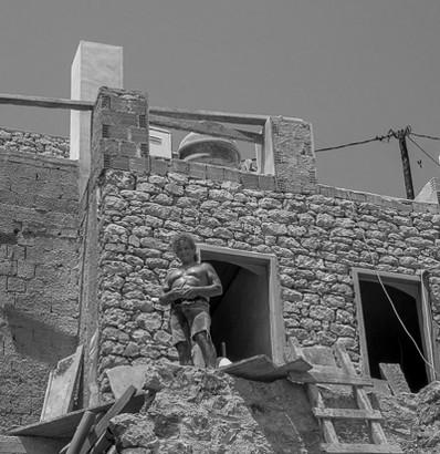 House and Body Builder, Symi, Greece
