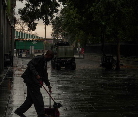 Street Cleaners French Quarter Early A.M
