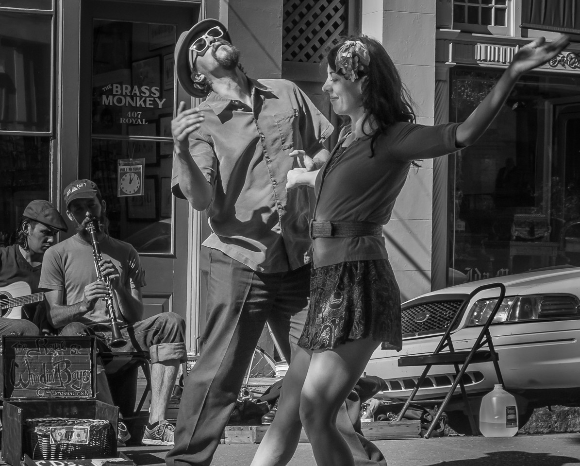 Dancing to the Music in French Quarter
