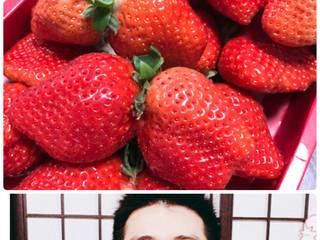 お客様からイチゴを頂きました