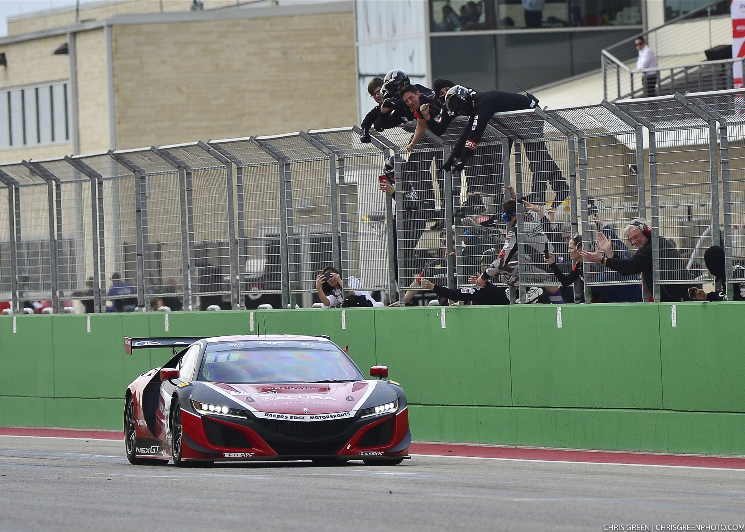 The No 93 Acura NSX Gt3 Evo takes the ch
