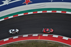Our Acura NSX GT3 Evos from overhead