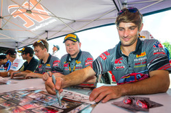 Racers Edge drivers sign autographs