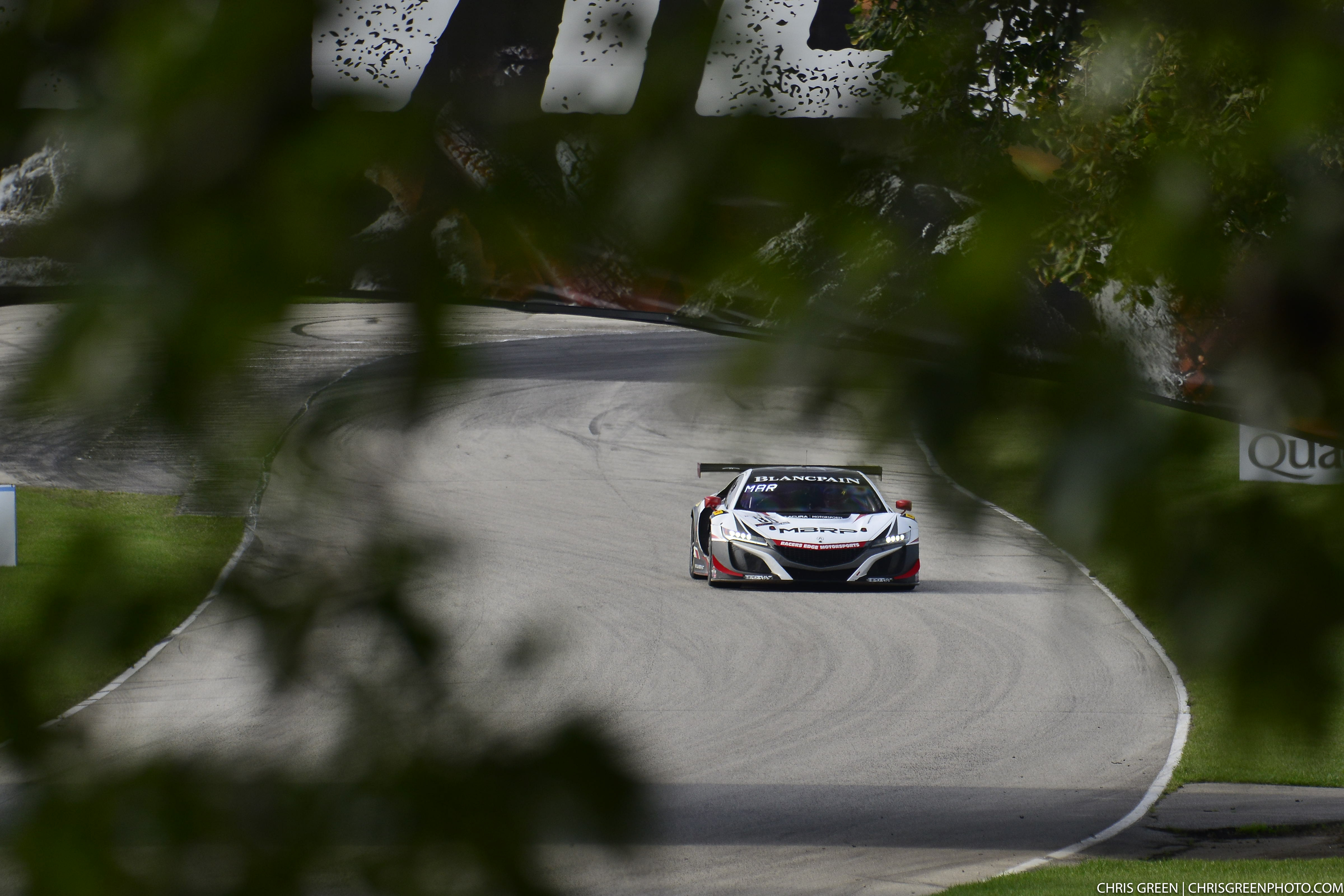 Through the trees at Road America