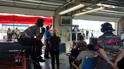 Racers Edge crew watches the race