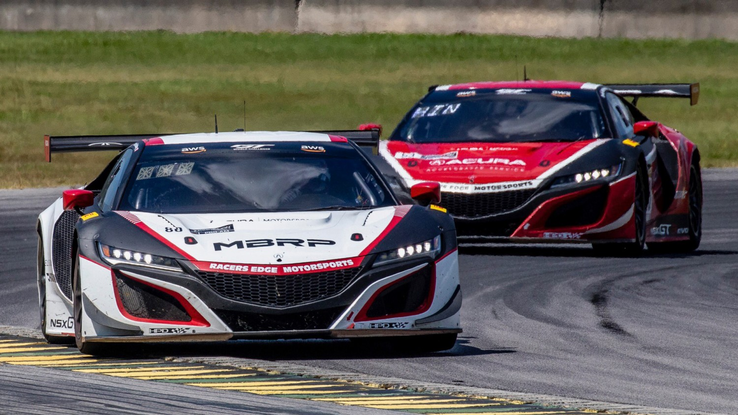 Both Acura NSX GT3 Evos at VIR