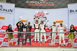 Racers Edge drivers celebrate a win