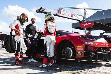 Trent Hindman demonstrates driver change