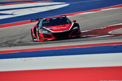 No 93 Acura NSX GT3 Evo on the curves of